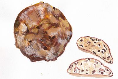 リンゴとレーズンのパン