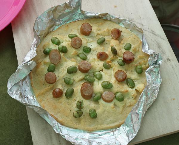 枝豆のピザ2